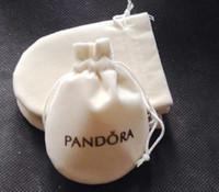 Wholesale 20pcs size cm cream color Pandora Jewelry Pouches Original Pandora Jewelry Packaging Bags Bracelets Pouches