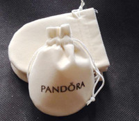 Wholesale 20pcs size cm cream color Pandora Jewelry Pouches Original Pandora Jewelry Packaging Bags Bracelets Pouches
