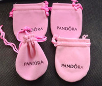 Wholesale 20pcs size cm pink color Pandora Jewelry Pouches Original Pandora Jewelry Packaging Bags Bracelets Pouches