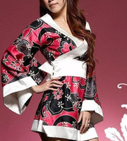 love dolls - Fashion Loving Sexy Lingerie G String Nightgown kimono doll robe Underwear Nightwear B4027CF