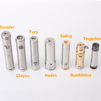 Cheap Seven Styles Stainless Steel Mechanical Clone Tube E Cigarette Hades Mod 26650 Battery Stingray Mod 510 Thread Nimbus Chiyou Kayfun Taifun