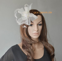 Wholesale Ivory Laeies crin fascinator for weddig races party