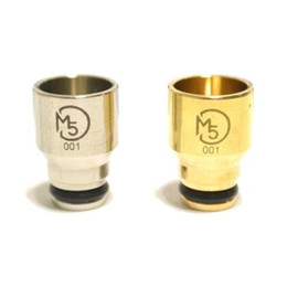 Wholesale wide bore M5 king drip tip BRASS stainless STEEL metal drip tips mouthpieces cover FOR IGO PATRIOT KRAKEN KAYFUN mephisto plume veil RDA