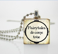Pendant Necklaces aa charms jewelry - Fairy Tale Jewelry Fairytales Do Come True Scrabble Tile Pendant with Ball Chain Necklace Included AA