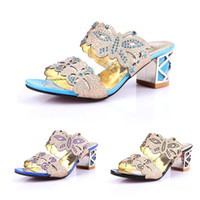 Wholesale 2014 New Fashion Shoes Woman Women Sandal Platform Sandals Pumps Summer Shoes Rhinestone Chunky Heel Peep Toe SW054