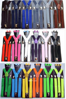 Wholesale colourful elastic belt Y back Suspenders Clip on Adjustable Unisex Pants Y back Suspender Braces Black Elastic belt belts belt belts g