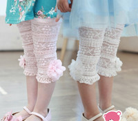 Leggings & Tights beautiful tights - 2016 Girls Kids Korean Summer Pants Beautiful Lace Stereo Flower Cotton Leggings Pink White Adorable Pants Size Age Y