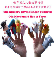 Wholesale Cartoon Animal Finger Puppet Old Macdonald had a farm story Cartoon marionette puppet funny toy