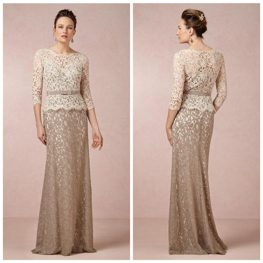 2015 Sheath 3/4 Long Sleeves Mother Of The Bride Dresses Two Tones ...