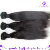 Wholesale 12 quot with mix length Yaki straight brazilian virgin Hair Weave human hair extensions