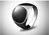Europe and America antique onyx rings - Size Jewellery Antique Men s Epoxy K White Gold Plated Wedding Band Ring