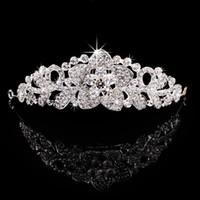 Wholesale Flowers Hair Fauxl Diamond Bridal Crown Wedding Accessory Fashion Tiaras
