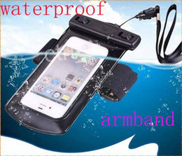 Wholesale Universal Waterproof PVC Diving Bag Underwater Pouch Case For mobile iPhone S S C Samsung Galaxy S3 S4 S5 HTC M8 Sony With Armband