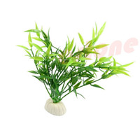 Wholesale 6 Simulated Green Bamboo Leaf Plant Grass Aquarium Fish Tank Decoration