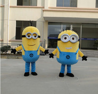 Mascot Costumes Unisex Animal High quality New cartoon Mascot Costumes Minions costume Adult Size Despicable Me Cartoon costume doll props
