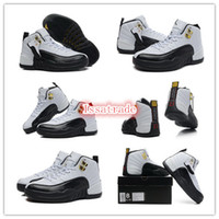 Wholesale Famous Trainers Newest Color Top Quality Retro XII GS Taxi Women s Sports Basketball Shoes WHITE BLACK TAXI RED Size