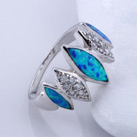 Wholesale 925 sterling silver High Quality Stunning Blue Topaz Fire Opal Inlay Sterling Silver Ring Hot SKU BT0212