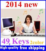 Precio de Piano del teclado suave 49-Brand New Portátil 49 Llaves Roll Up Electrónica Flexible Plegable Teclado Piano suave mano de órgano de música