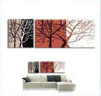 Bamboo Handpainted Modern 40*40cmx3p,3 Panels , 100% Handpainted Modern Canvas Art ,Wall Art ,Top Home Decoration yttht047
