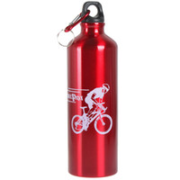 Wholesale Portable Red Aluminum Metal Outdoor Sport Water Bottle Jug Drink Bottle for Bike Bicycle Cycling ml mm Width Mouth
