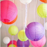 Wholesale 40pcs mixed sizes White Paper Lanterns Lighting with quot sizes for DIY Wedding Decorations Chinese Lanterns Whloesale