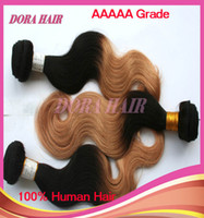 "Cheap Length 12""-26"" Ombre Hair Weave 1B #27 Body Wave Peruvian Hair Weft 3 pcs lot 5A Grade Hot Sale Cheap"