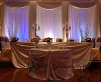 Wholesale wedding Drape amp stand set wedding curtain with silver swag stand with telescopic rods wedding backdrop with drape and backdrop frame