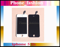 For Apple iPhone LCD Screen Panels  Black White LCD Display & Touch Screen Digitizer Full Assembly for iPhone 5S & iphone 5C Replacement Repair Parts