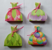 boxes for wedding dress - Fairies Princess Wedding Dress Gown Favor Box Favors bags Birthday Favor Boxes Party gift Boxes for candies