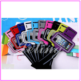 Wholesale S3 Gym Strap - for iphone 4 4S 5 5S 5C Samsung S3 S4 S5 note2 3 Sport Gym Armband Case Colorful Pouch Cover Strap Soft Belt Jogging Running Bag >50pcs