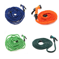 Wholesale Ship from USA Flexible Latex Water Hose FT FT FT FT Expanding Flexible Garden Water Hoses with Spray Nozzle Head Colors