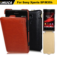 Cheap For Sony Ericsson xperia case Best Leather support sony leather case