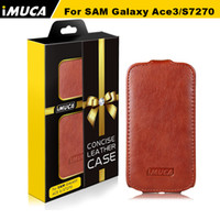 For Samsung Leather  for samsung case For Samsung Galaxy Ace 3 S7270 S7272 S7275 Brand New PU Leather Mobile Phone Cases Free Shipping with Gift Retail Packing