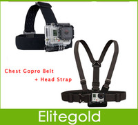 Wholesale Go pro Harness Adjustable Elastic Chest Gopro Belt Head Strap Mount strap with Plastic Buckle For Gopro Accessories