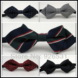 Wholesale Children bow tie Sharp corners han edition boy style polyester fabrics a variety of optional children s neck accessories
