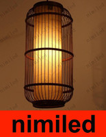 rattan - nimi384 Rattan Bamboo Structure Chandelier Rattan Bambooa Lamp Lamps Droplight Cylinder Pendant Lights Living Room Lights Dinning Room Light