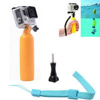 Wholesale Floaty Floating Hand Grip Handle Mount Float Screw for Gopro Hero Camera SETS DHL Travel Must Accessories