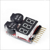Wholesale 1 S Lipo Li ion Fe RC helicopter airplane boat etc Battery Voltage IN1 Tester Low Voltage Buzzer Alarm
