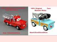 5-7 Years Car Metal 2 pcs 100% Original Pixar Cars Diecast Figure Toys - Fire Truck&Matador Mater