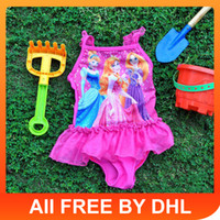 Girl One-piece 0-12m/2t-3t-4t-5t-6t Kids swimwear Frozen Cartoon baby swimwear prinesess swimwear Cute Girl Beach Swimming One-Piece Bathing surfing swimSuit Swimming Costume