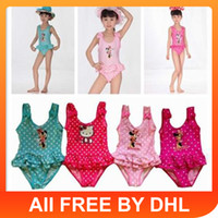 Wholesale Up Mix orderDHLto AU US UK NH CA New baby swimwear girls swimwear Girl Cute Beach Swimming One Piece Bathing Suit Kids Swimwear