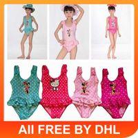 Girl swimwear uk - Up Mix orderDHLto AU US UK NH CA New baby swimwear girls swimwear Girl Cute Beach Swimming One Piece Bathing Suit Kids Swimwear