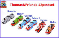 Wholesale 12pcs Trains amp Trailer Thomas amp Friends metal train Models Mix Order
