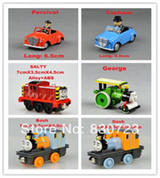 Wholesale 6pcs kids toys metal trains Kids toys Thomas and Friends metal train Models Educational Toys