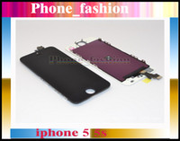 For Apple iPhone LCD Screen Panels  Black and white Glass Touch Screen Digitizer & LCD Assembly Replacement For iPhone 5 5g