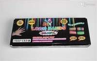 Wholesale Rainbow Loom kit with Charms DIY Looming Bracelets bands S clips charm Hook shell box loom bracelet rubber band