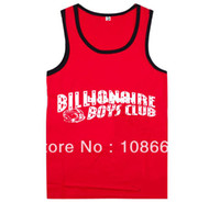 Cotton Men Animal Wholesale-Billionaire boys club Tank Tops High quality hot sale top selling Vest Sleeveless 100% cotton Free Shipping Size S-XXXL