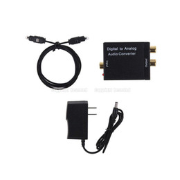 Wholesale S5Q Digital Optical Coaxial Signal to Analog Audio Converter US UK Adapter RCA AAADMS