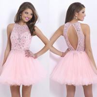 Sexy Beading 2014 Tulle Ball Gowns Backless Hot Pink Prom Pa...