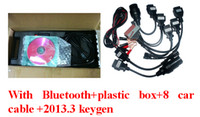Code Reader For BMW DS150 A+ quality Delphi DS150 with Bluetooth DELPHI DS150E VCI + Plastic box 2013 Release 3 Version, with 8 car cables DHL free